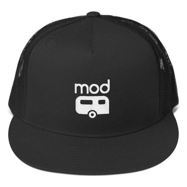 Mod Camper Trucker Hat in Black