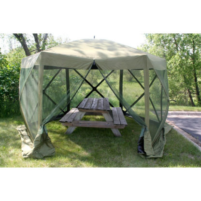 Clam Tent Canopy w picnic table