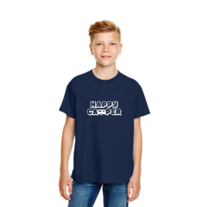 Happy Camper Kids Tshirt in Navy