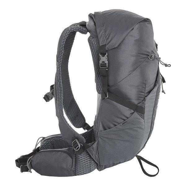 Kelty Ruckus Roll Top Backpack Side View Dark Shadow