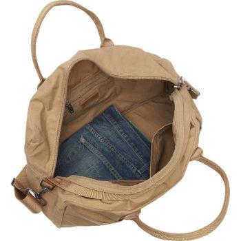 Fjallraven Gear Duffel Bag in Sand interior