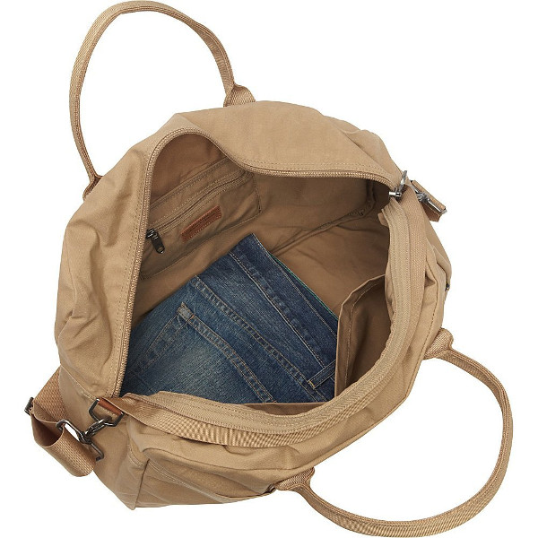 Fjallraven Gear Duffel Bag in Sand interior