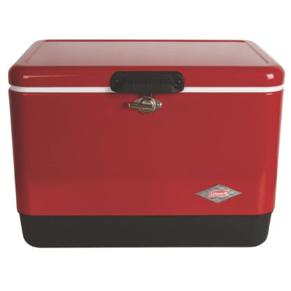 Coleman Retro Steel-Belted Cooler in Red and Black