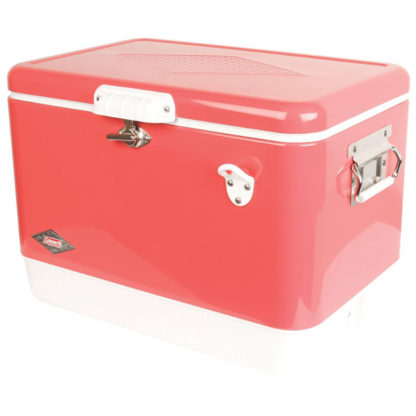 Coleman Retro Steel-Belted Cooler in Rose Pink