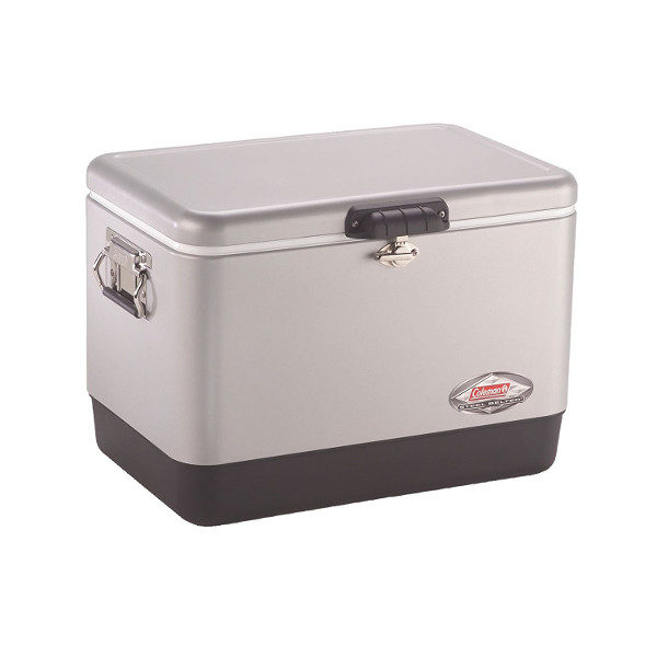 Coleman Retro Steel-Belted Cooler in Silver