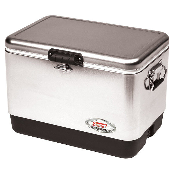 Coleman Retro Steel-Belted Cooler in Stainless Steel