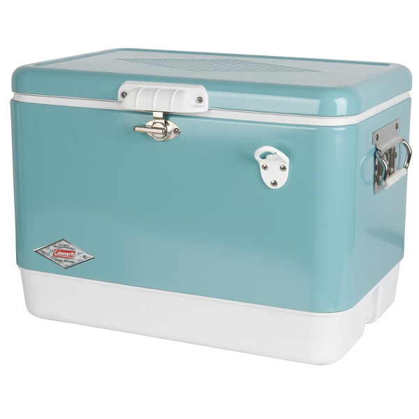 Coleman Retro Steel-Belted Cooler in Turquoise
