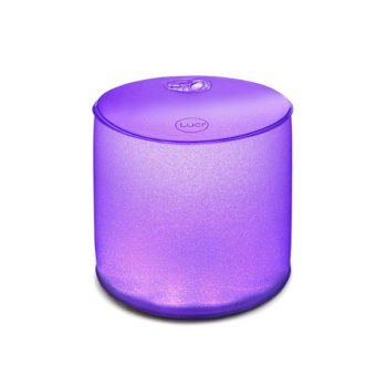 Luci Color Inflatable Solar Light in purple