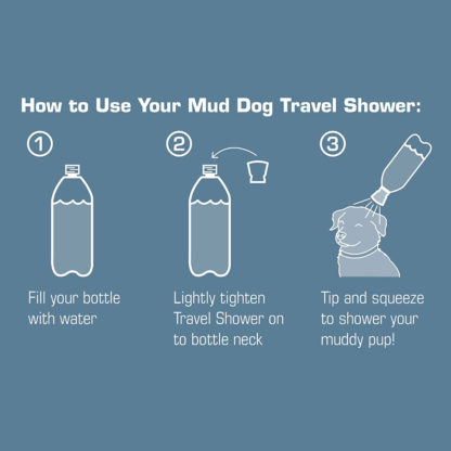 Kurgo Mud Dog Travel Shower instructions