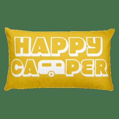 Happy Camper Rectangular Pillow in Sunshine