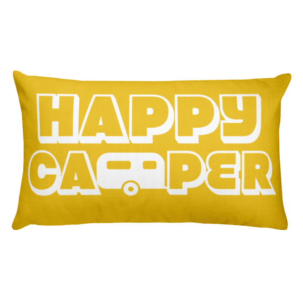 Happy Camper Rectangular Pillow in Sunshine