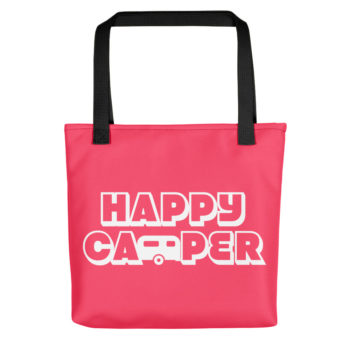Happy Camper Tote in Cotton Candy Pink