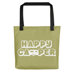 Happy Camper Tote in Green with Envy