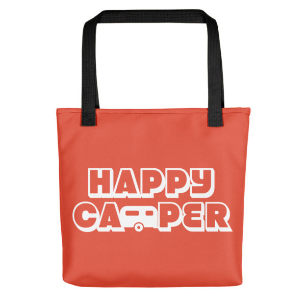Happy Camper Tote in Orange Glo