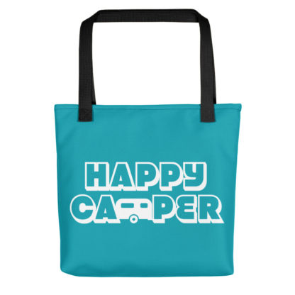 Happy Camper Tote in Seaside Blue