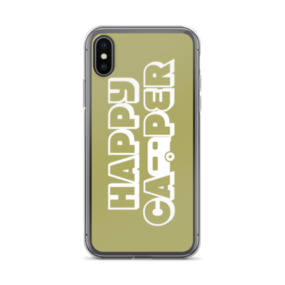 Happy Camper iPhone X case in Green with Envy