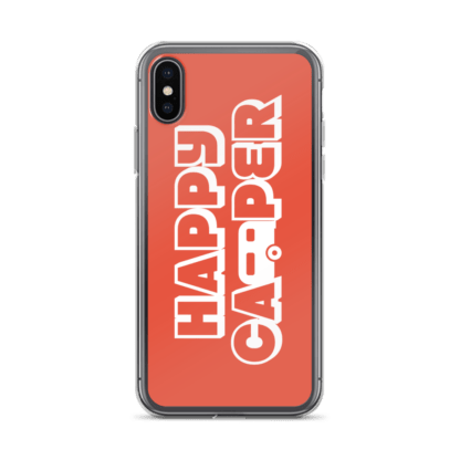 Happy Camper iPhone X case in Orange Glo