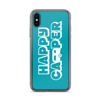 Happy Camper iPhone X case in Seaside Blue