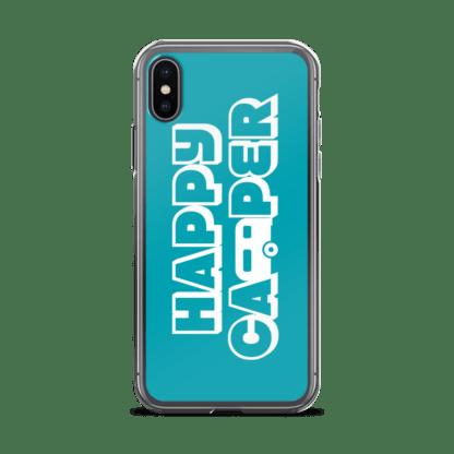 Happy Camper iPhone X case in Seaside Blue