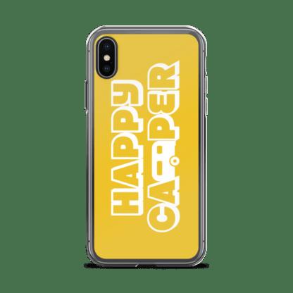 Happy Camper iPhone X case in Sunshine