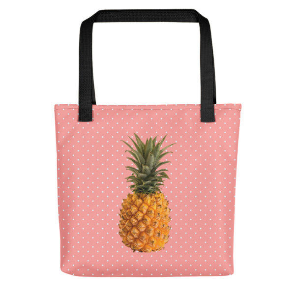 Pineapple and Polka Dots Tote in Pretty in Pink