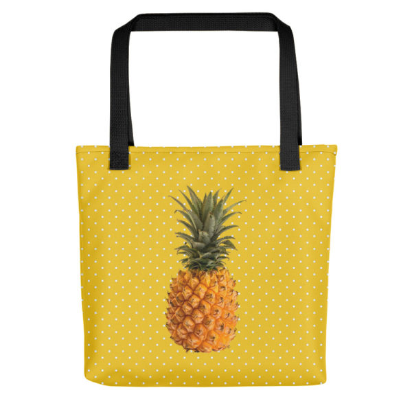 Pineapple and Polka Dots Tote in Sunshine