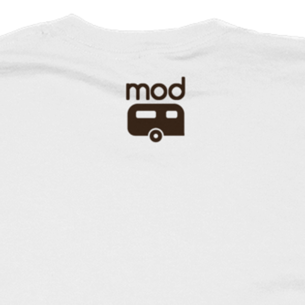 Mod Camper outside logo on light shirt