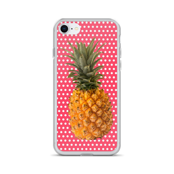 Pineapple and Polka Dots iPhone case for 7 and 8 in Cotton Candy Pink