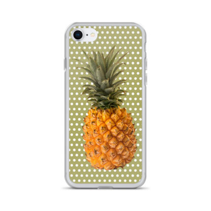 Pineapple and Polka Dots iPhone case for 7 and 8 in Green with Envy