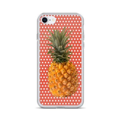 Pineapple and Polka Dots iPhone case for 7 and 8 in Orange Glo