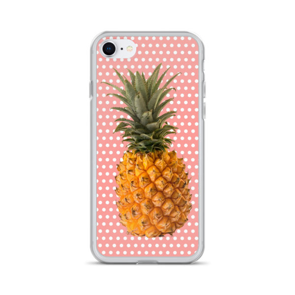 Pineapple and Polka Dots iPhone case for 7 and 8 in Pretty in Pink