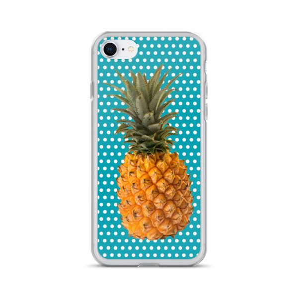 Pineapple and Polka Dots iPhone case for 7 and 8 in Seaside Blue