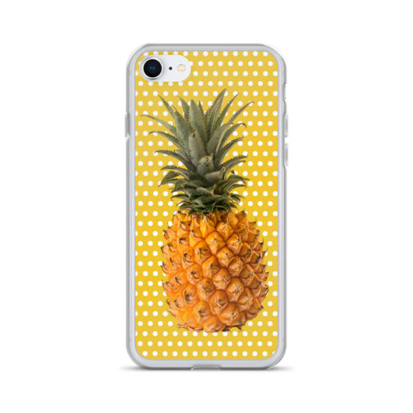 Pineapple and Polka Dots iPhone case for 7 and 8 in Sunshine