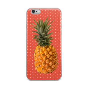 Pineapple and Polka Dots iPhone case in Orange Glo