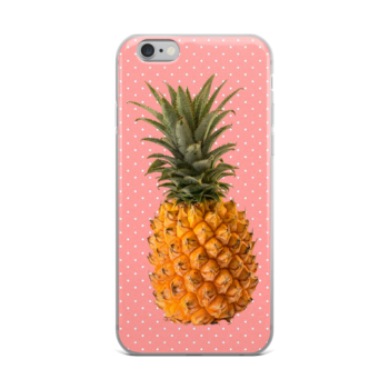 Pineapple and Polka Dots iPhone case in Pretty in Pink