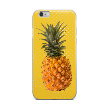 Pineapple and Polka Dots iPhone case in Sunshine
