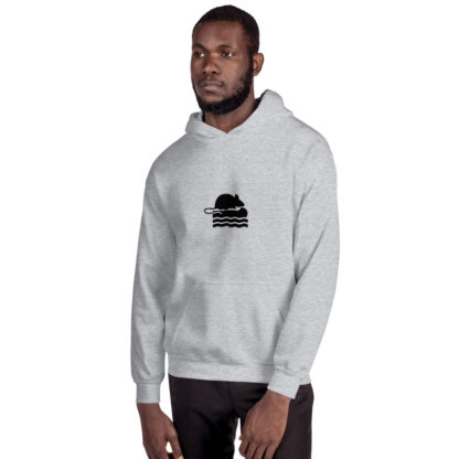 Take Me To The River Rat Extra Thick Unisex Hoodie in Grey