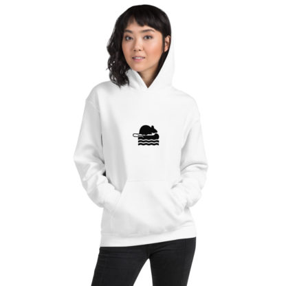 Take Me To The River Rat Extra Thick Unisex Hoodie in White