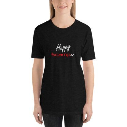 Happy Scamper Unisex Tshirt in Heather Black