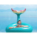 Mermaid Tail Float Lounger in Green