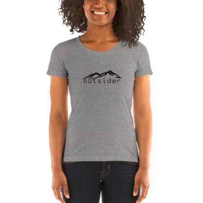 Outsider Women's Triblend T-shirt in Grey