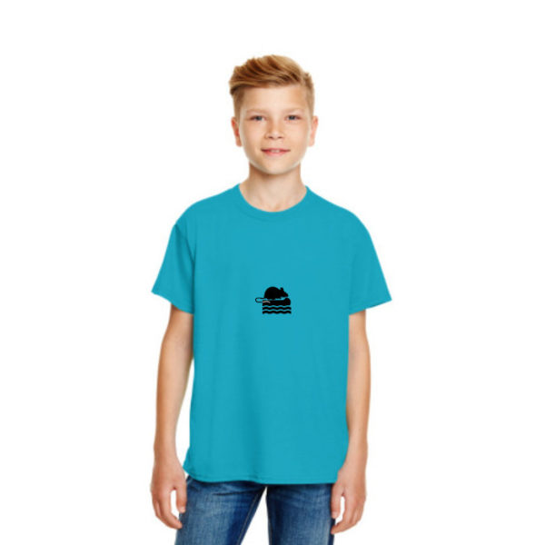 Take Me To The Rver Rat Kids Tshirt in Caribbean Blue