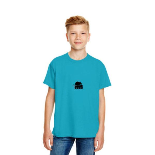 Take Me To The Rver Rat Kids Tshirt in Caribbean Blue