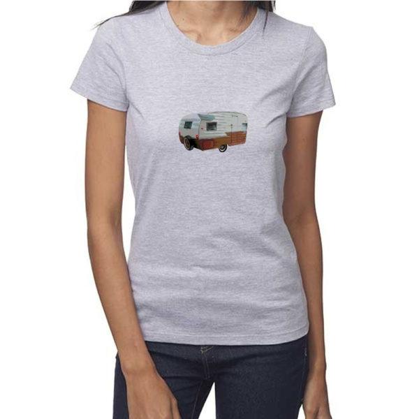 Vintage Shasta Women's Tshirt in Heather Grey