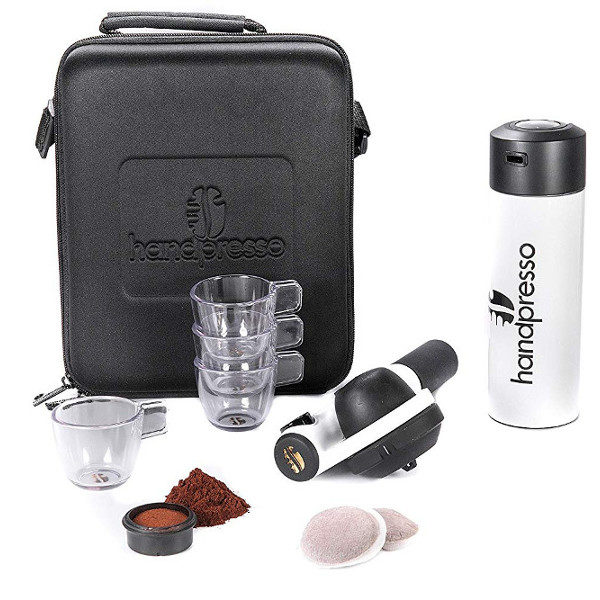 Handpresso Pump Espresso Machine Travel Set unpacked