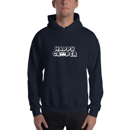 Happy Camper Extra Thick Unisex Hoodie in Navy