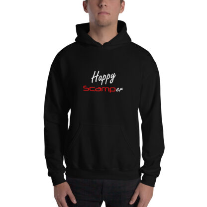 Happy Scamper Extra Thick Unisex Hoodie in Black
