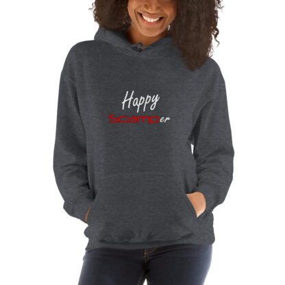 Happy Scamper Extra Thick Unisex Hoodie in Dark Heather Grey