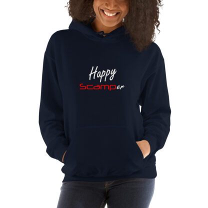 Happy Scamper Extra Thick Unisex Hoodie in Navy