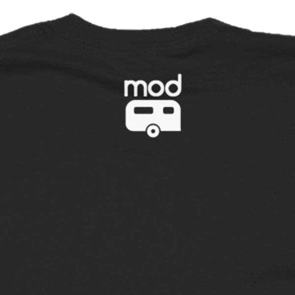 Mod Camper outside logo on dark shirt
